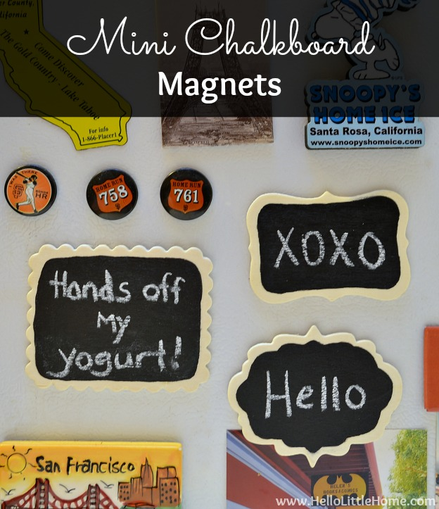 Mini Chalkboard Magnets | Hello Little Home #DIY #craft