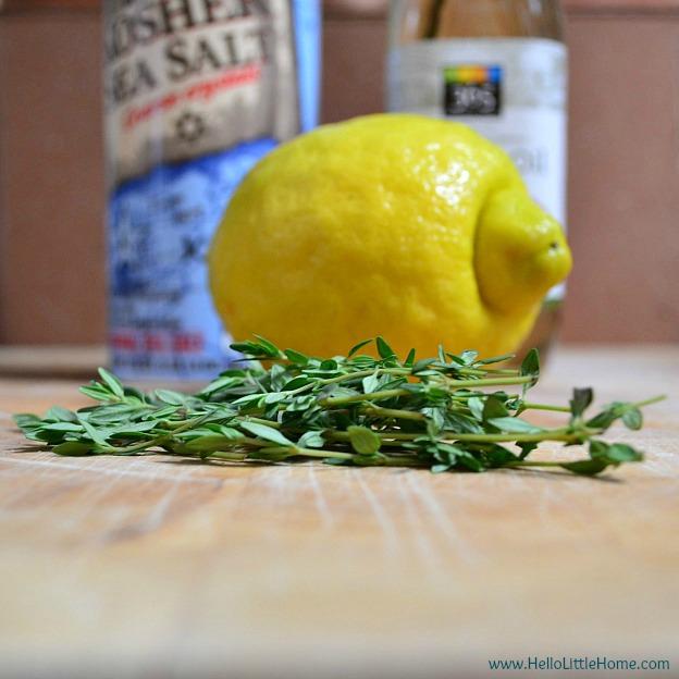 DIY lemon thyme scrub