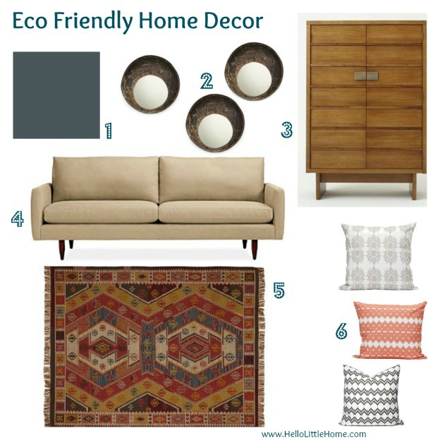 eco friendly home decor - www.HelloLittleHome.com