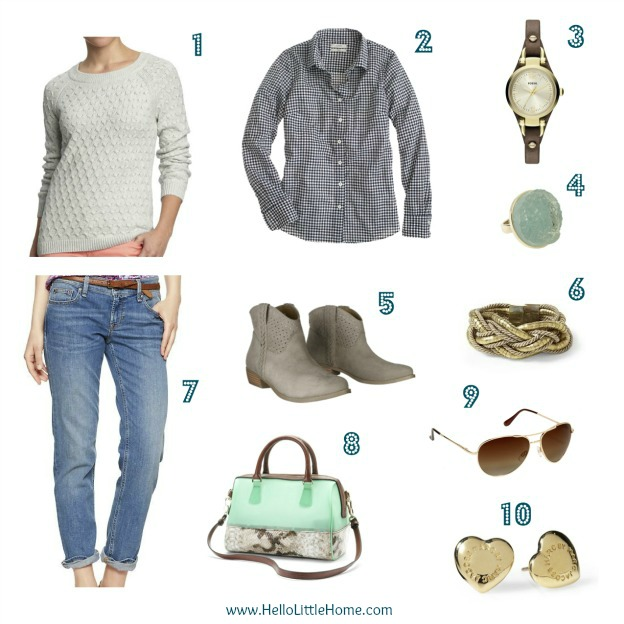 Mint green accessories help bring spring style to your winter wardrobe: HelloLittleHome.com