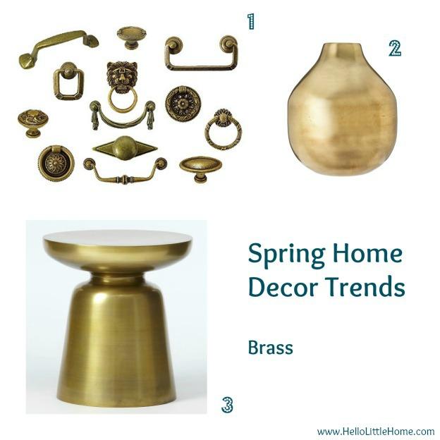 Spring home decor trends: brass - www.HelloLittleHome.com