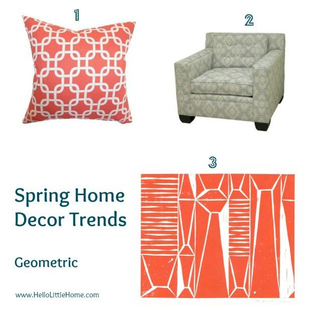 Spring home decor trends: geometrics - www.HelloLittleHome.com
