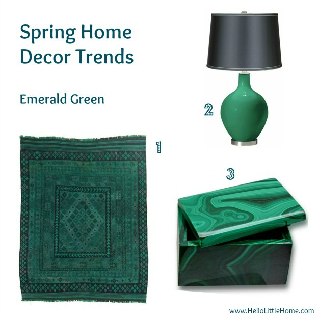 Spring home decor trends: Emerald - Pantone Color of the Year 2013 - HelloLittleHome.com