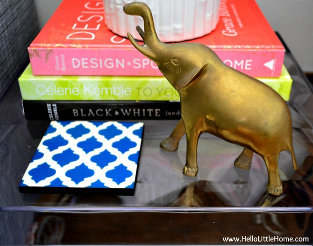 My thrift store brass elephant: www.HelloLittleHome.com