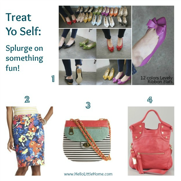treat yo self: splurge via www.HelloLittleHome.com