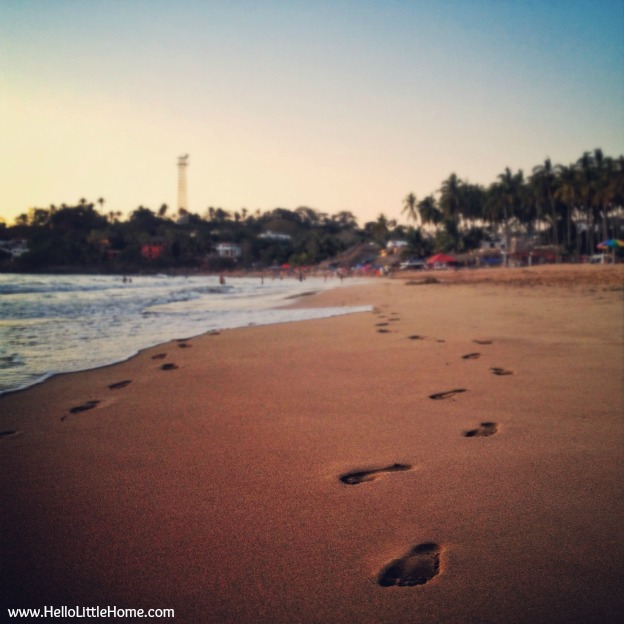 Walking on the beach in Chacala, Mexico - www.HelloLittleHome.com