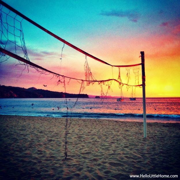 Chacala, Mexico beach sunset - www.HelloLittleHome.com