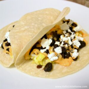 Egg and Black Bean Tacos
