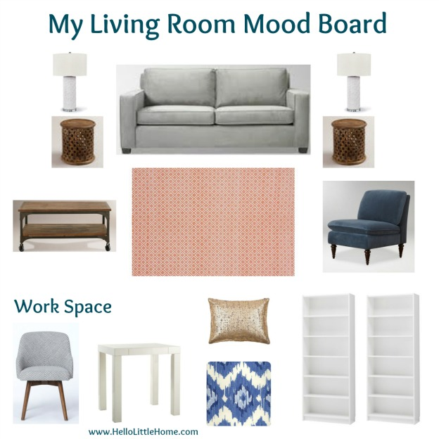 my NYC living room mood board