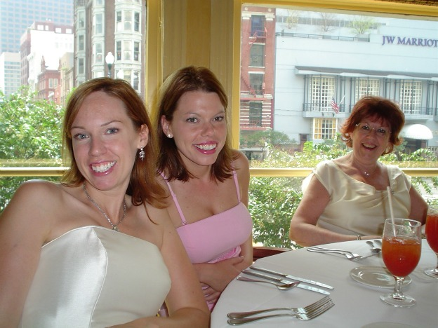 My mom, sister, and I at my wedding.