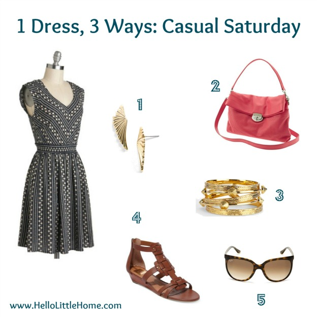 1 dress, 3 ways: casual Saturday