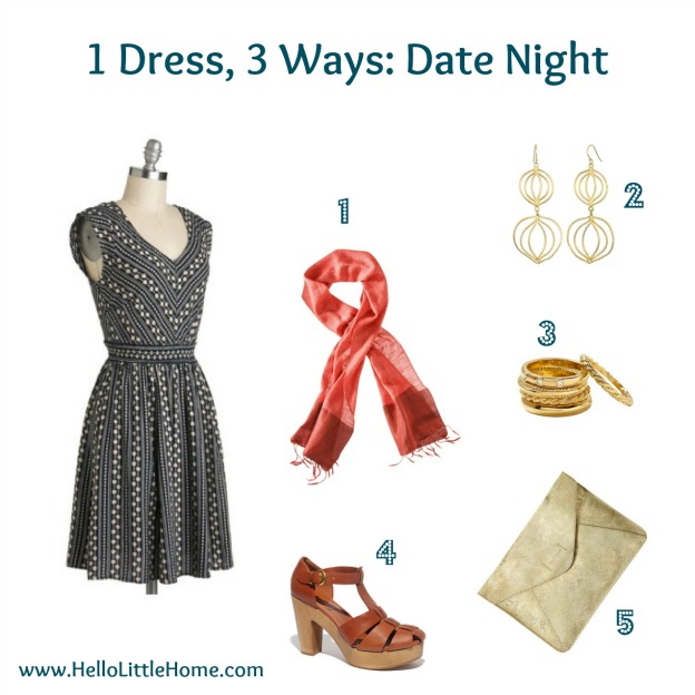 1 dress, 3 ways: date night