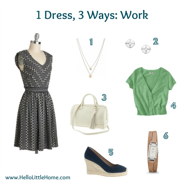 1 dress, three ways: work