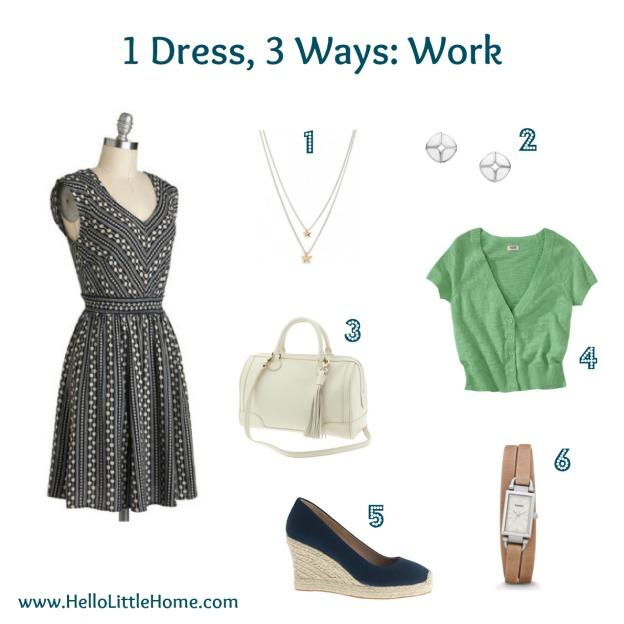 1 dress, three ways: work