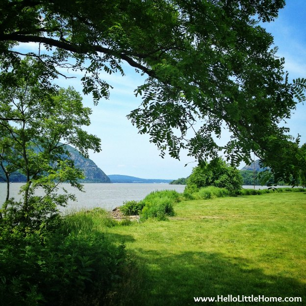 View of the Hudson River in Cold Spring New York
