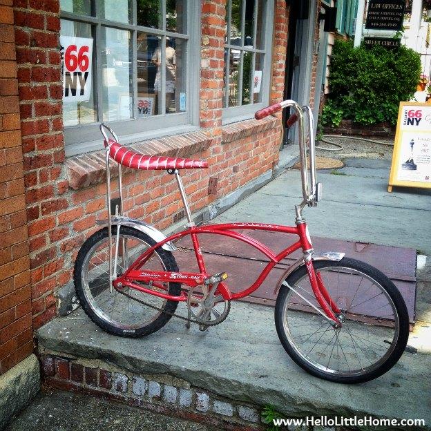 Banana bike seat in Cold Spring