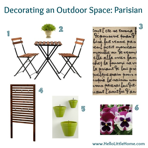 Decorating an Outdoor Space: Parisian