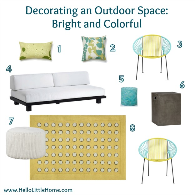 Decorating an Outdoor Space: Bright and Colorful