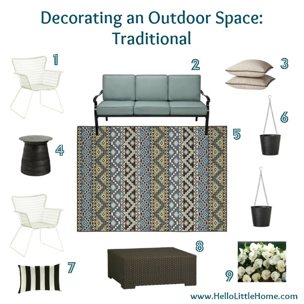 Decorating an Outdoor Space: Traditional