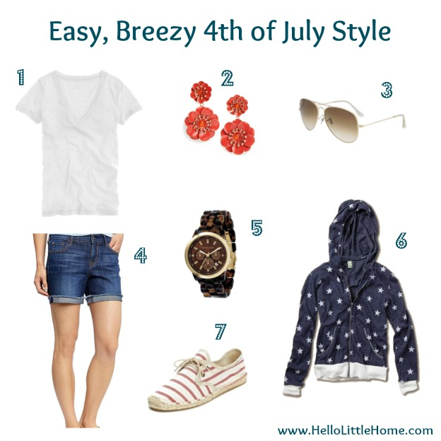 Easy, breezy 4th of July style.
