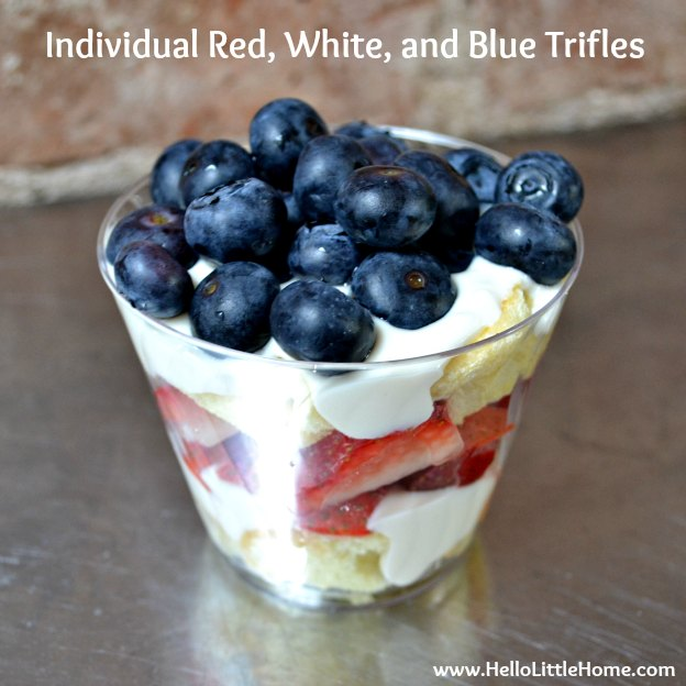Individual Red, White, and Blue Trifles