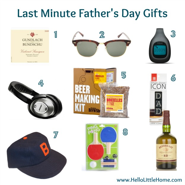 Last minute Father's Day gifts.