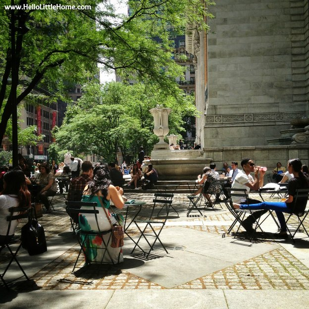 lunch at the New York Public Library