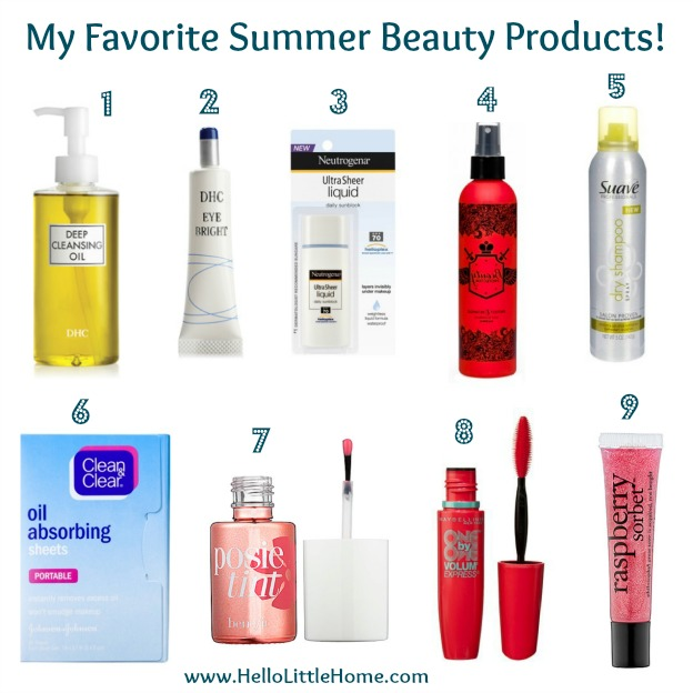 My favorite summer beauty products.