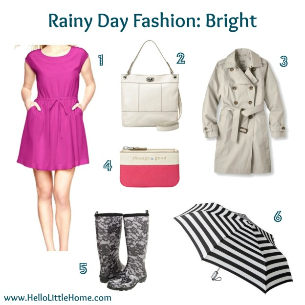 Rainy Day Fashion: Bright