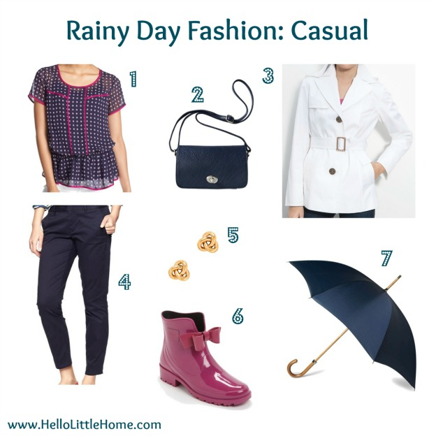 Rainy Day Fashion: Casual