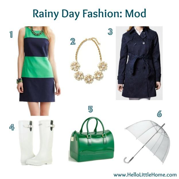 Rainy Day Style: Mod
