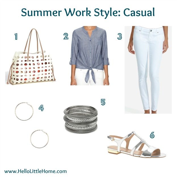 casual summer work style