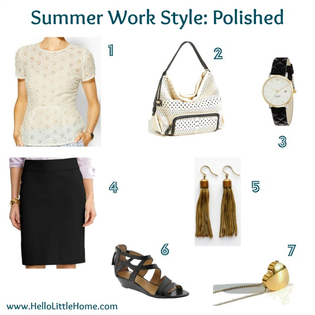 polished summer work style