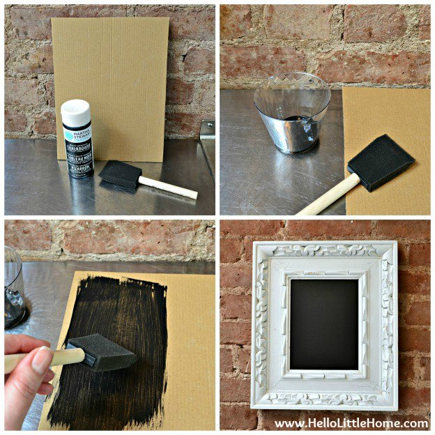 Easy DIY Chalkboard-step-by-step