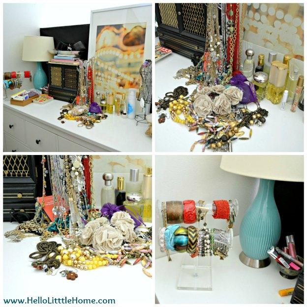 Jewelry Organization: Before | Hello Little Home #InteriorDesign #Decor