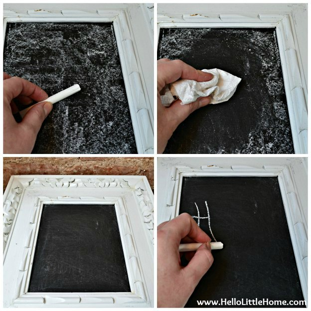 Decorating a Chalkboard