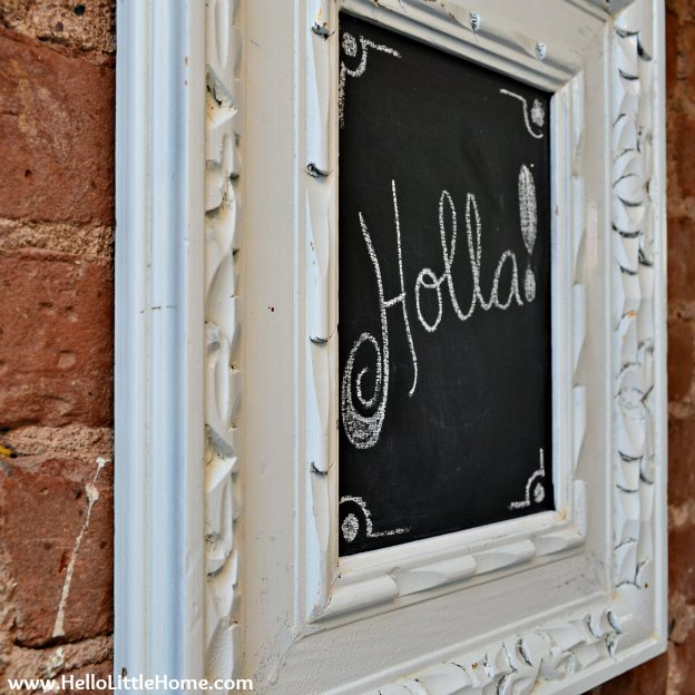 Easy DIY Chalkboard: Holla!