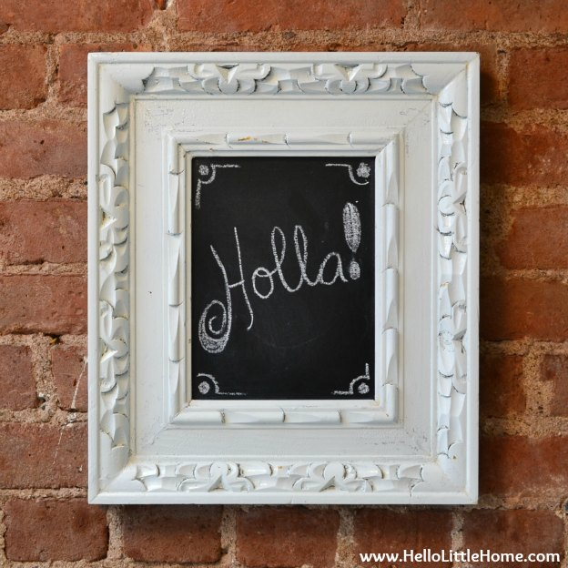 Easy DIY Chalkboard: Finished Product