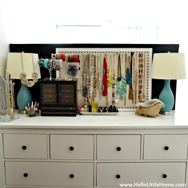 Jewelry Organization: After | Hello Little Home #InteriorDesign #Decor