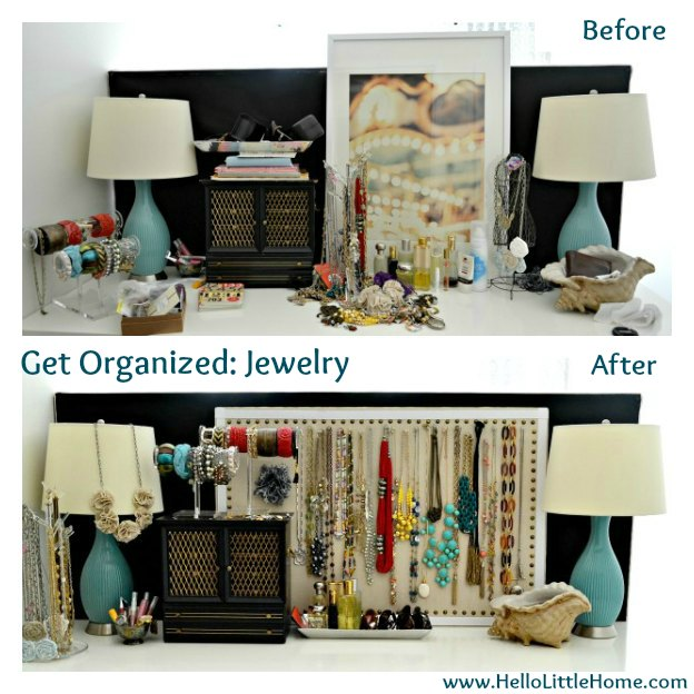 Jewelry Organization: Before and After | Hello Little Home #InteriorDesign #Decor