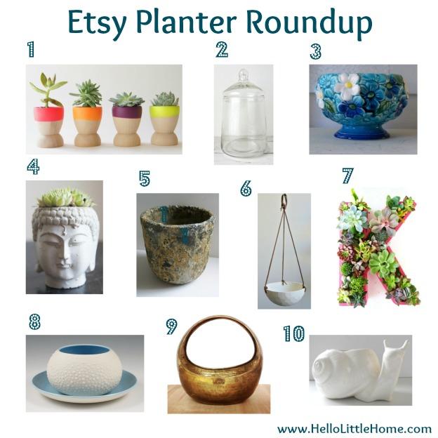 Etsy Planter Roundup
