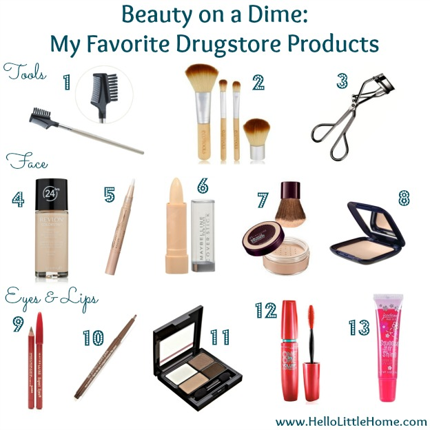 Beauty on a Dime: My Favorite Drugstore Products