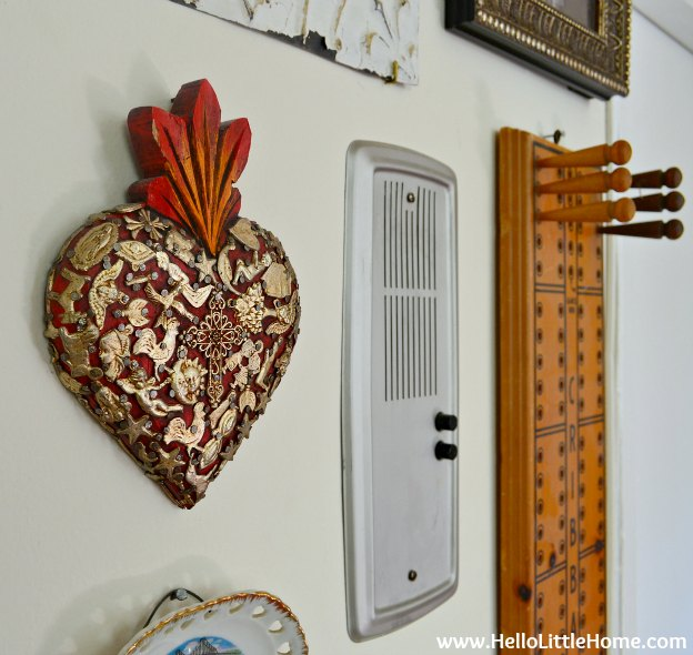 Gallery wall close-up: Mexican heart.