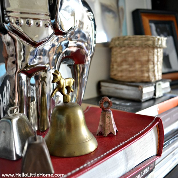 Peek into my living room: bell collection