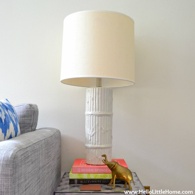 Peek into my home: bamboo lamps