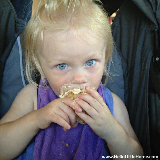 My niece Savanna enjoying a cupcake.