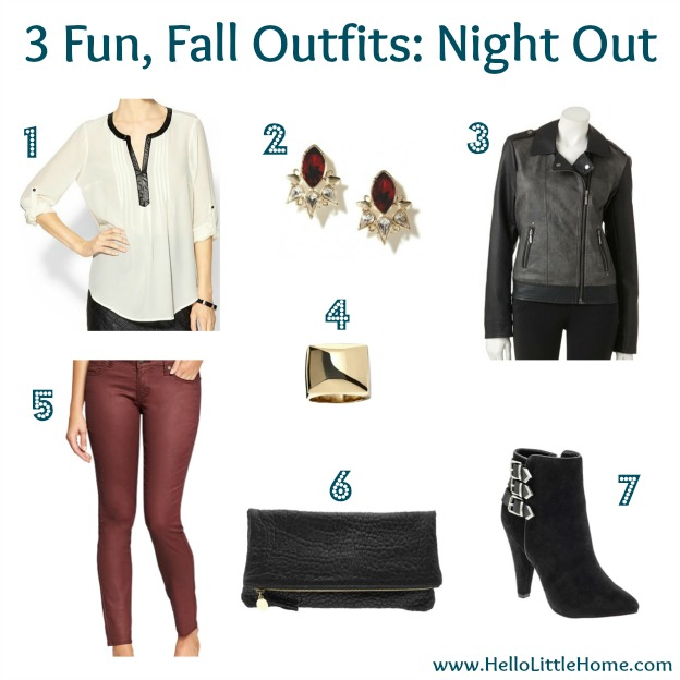 3 Fun, Fall Outfits: Night Out