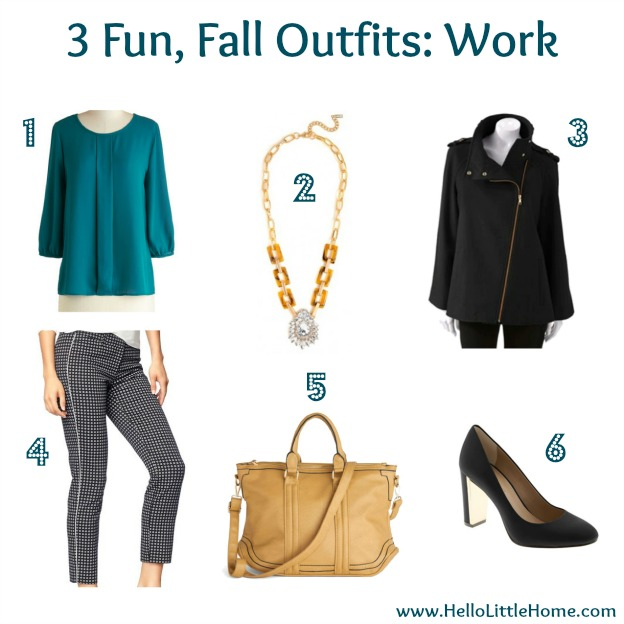 3 Fun, Fall Outfits: Work