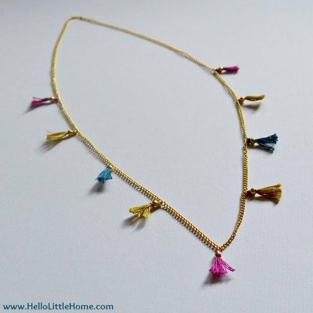DIY Shashi-Inspired Tassel Necklace