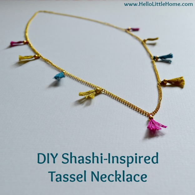 DIY Shashi-Inspired Tassel Necklace